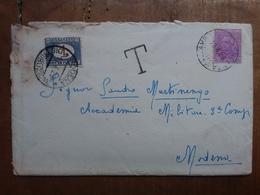 REGNO - Lettera Tassata Con Annullo Arrivo Retro (busta Difettosa) + Spese Postali - 1900-44 Vittorio Emanuele III