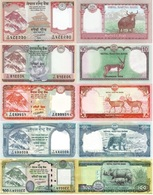 NEPAL Set 5v 5 10 20 50 100 Rupees 2015 - 2019  P 76 77 78 79 80 UNC - Nepal