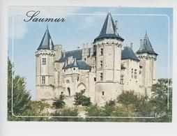 Saumur : Le Château & L'entrée, Avec Son Petit Chatelet, Les Tours Ouest Et Sud - Saumur
