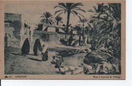 TUNISIE-CHENINI-Rue à Travers Le Village - Tunisie