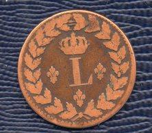 Un Décime.LOUIS XVIII.Au L Couronné.. BB. Date Effacée . - France