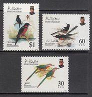 Brunei - Correo Yvert 463/5 ** Mnh  Fauna Aves - Brunei (1984-...)