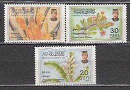 Brunei - Correo Yvert 522/4 ** Mnh  Fauna Y Flora - Brunei (1984-...)