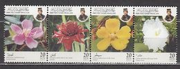 Brunei - Correo Yvert 629/32 ** Mnh  Flores - Brunei (1984-...)