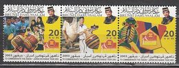 Brunei - Correo Yvert 633/5 ** Mnh  M�sica - Brunei (1984-...)