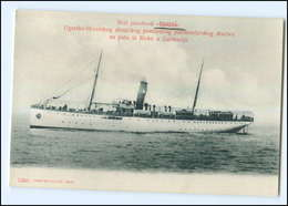 U5377/ Dampfer Gödöllö  Ugarsko-Hrvatskog    Rieke Rijeka  Kroatien AK 1909 - Croatia