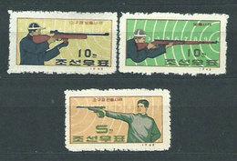 Corea Del Norte - Correo 1963 Yvert 490/2 ** Mnh  Deportes Tiro - Korea, North