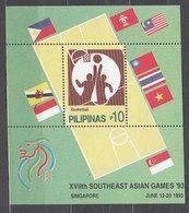 Filipinas - Hojas Yvert 55 ** Mnh  Deportes Basket - Filipinas