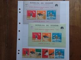 ECUADOR - Spazio - Conquista Luna - 2 BF + Serie Nuovi ** + Spese Postali - Ecuador