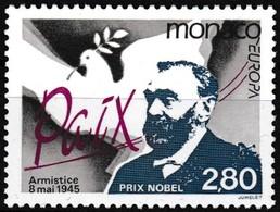 Timbre-poste Gommé Neuf** - Europa Paix Colombe Centenaire Du Prix Nobel - N° 1987 (Yvert) - Principauté De Monaco 1995 - Ungebraucht