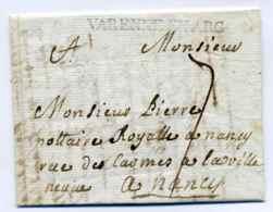 Varrene En Argonne  Lenain N°2 / Dept 53 Meuse / 1768 - Marcophilie (Lettres)