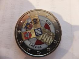 2 Euro Lettonie 2016 Colorisée - 100 Ans Des Pays Baltes - Lettonia