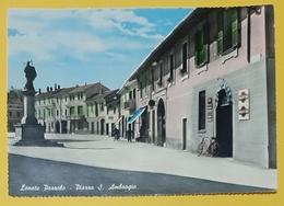Cartolina Lonate Pozzolo - Piazza S. Ambrogio - 1936 - Varese