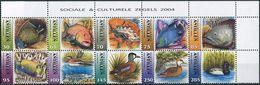Nederlandse Antillen 2004. Michel #1316/25 MNH/Luxe. Fishes And Ducks. (Ts15) - Vissen