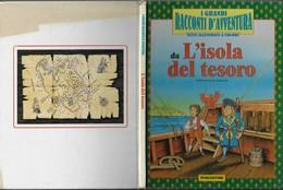 """Di R.L.Stevenson """"L'isola Del Tesoro"""" Illustrato A Fumetto De Agostini1990-pp33-fo.22x28,5-vedi Foto----------(606E) - Enfants"""