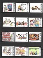 Disney Set Sierra Leone 1991 Christmas Cards MNH - Disney