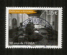 ANDORRA.FHASA/FEDA. 2019 (Forces Hidroelèctriques D'Andorra) 90 Ans. Un Timbre Oblitéré, 1 ère Qualité - Andorre Espagnol