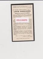 DOODSPRENTJE DIERCKENS LOUIS ECHTGENOOT DE VLAEMINCK TIELT 1877 - 1930  Bewerkt Tegen Kopieren - Images Religieuses