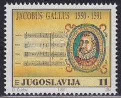 Yugoslavia 1991 Jakob Galus, MNH (**) Michel 2489 - Ungebraucht
