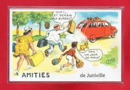 08-CPSM JUNIVILLE - France
