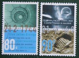 Maanlanding Planetarium Moon Airspace NVPH 1612-1613 (Mi 1514-1515); 1994 Gestempeld / USED NEDERLAND / NIEDERLANDE - 1980-... (Beatrix)