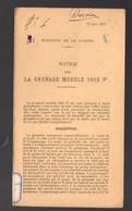 (guerre 14-18)  Notice Sur La Grenade Modèle 1915 P1  (daté Du 17 Jun 1915) (PPP21288) - 1914-18