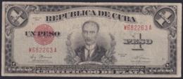 1948-BK-26 CUBA 1948 1$ BANCO NACIONAL CERTIFICADO DE PLATA SILVER CERTIFICATE - Cuba