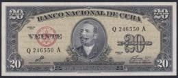 1960-BK-256 CUBA 1960 20$ BANCO NACIONAL SIGNED ERNESTO CHE GUEVARA UNC - Cuba