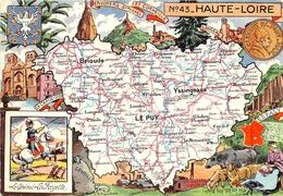 ¤¤   -  Carte Du Département De HAUTE-LOIRE   -  Illustrateur    -   ¤¤ - France