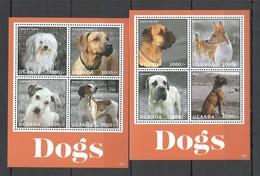 B380 2013 UGANDA FAUNA DOMESTIC ANIMALS PETS DOGS 2KB MNH - Hunde