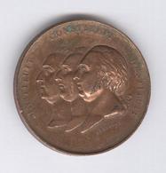 Médaille Société D'agriculture - Instituit Constituit Restituit - Portrait Le Louis XV , Louis XVI Et Louis XVIII - Professionals / Firms