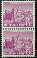 Berlin 1949 Berliner Bauten Plattenfehler Mi.Nr.: Paar 45 II ** Unused Mi.Pr.: 13.--€ - Unused Stamps