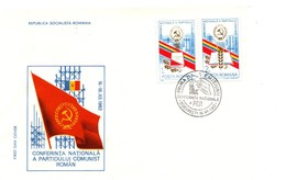Romania 1982 FDC, Communist Party Conference - Cartas