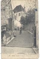 40. GRAY . LA MALCOUVERTE ET LE PRESBYTERE . CARTE TRES ANIMEE AFFR AU VERSO LE 19-4-1911 . 2 SCANES - Gray
