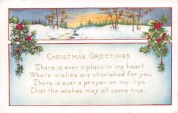 Christmas Greetings - There Is Ever A Place In My Heart... Houx - Natale