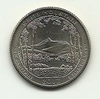 2013 - Stati Uniti 1/4 Di Dollar D - New Hampshire - 2010-...: National Parks