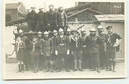 Carte-Photo - Scouts Marins Pompiers - Photo A. Bienvenu - Sapeurs-Pompiers