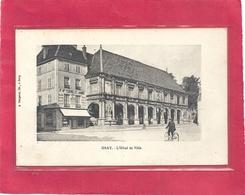 GRAY . L'HOTEL DE VILLE + COMMERCE & CYCLISTE . CACHET DE ARC LES GRAY AU VERSO . 2 SCANES . 2 SCANES - Gray