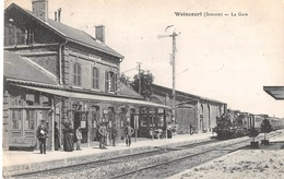 CPA 80 - WOINCOURT, La Gare - Autres Communes