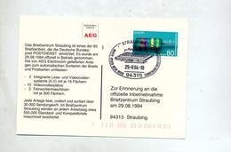 Carte Cachet Straubing Ouverture Centre Poste - BRD