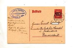 Carte Postale Couronne Cachet Speyer - Bavière