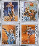 Yugoslavia 1992 Summer Olympic Games In Barcelona, MNH (**) Michel 2538-2541 - Ungebraucht