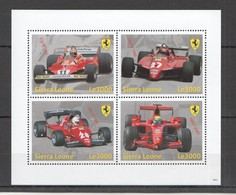 U878 2009 SIERRA LEONE RACING FORMULA 1 F1 CARS FERRARI HISTORY 1KB MNH - Cars