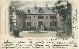 CHIMAY : Chateau De VIRELLES - RARE VARIANTE COLORISEE - Cachet De La Poste 1901 - Chimay