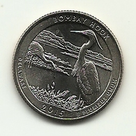 2015 - Stati Uniti 1/4 Di Dollar D - Delaware - 2010-...: National Parks