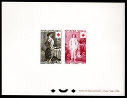 Epreuve Collective YT N° 1089 - 1090 - Cote: 325 € - Croix Rouge 1956 - Epreuves De Luxe
