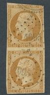 N-678: FRANCE: Lot Avec N°13B(paire Verticale, 2ème Choix, Pas De Clair) Obl Petit Chiffre 4095 Ind21  (Puimasson (5) ) - 1853-1860 Napoléon III