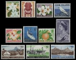 Cook-Inseln 1963 - Mi-Nr. 93-103 ** - MNH - Freimarken / Definitives - Cook