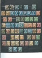FRANCE : Lot De Classiques Sur 2 Pages ( Cérès, Napoléon, Sage) A Trier, Cote Environ 1600 €. - Briefmarken