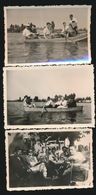 3 FOTO'S  9 X 6.5 CM   OVERMEIRE  ZOMER 1949 - Berlare